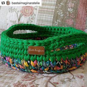"571 Me gusta, 29 comentarios - Elisa (@fiosdemalha) en Instagram: ""Bom dia! Com esse cesto maravilhoso da @rudenok.a ❤ . . #trapilho #fiosdemalha #fiodemalha…"""