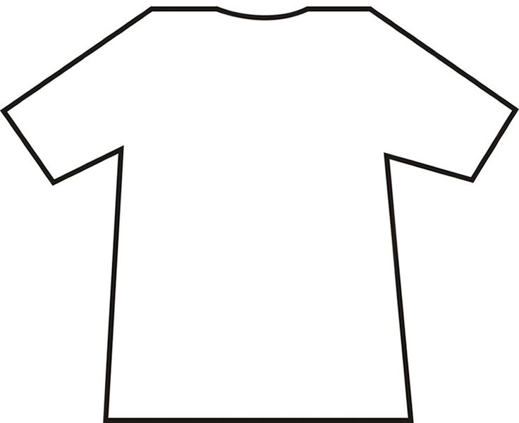 "FREE T-Shirt Template~ Students decorate their t-shirt with words or pictures that describe their interests. Hang them from a ""clothesline"" to make a cute hall display!"