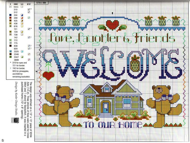 29 best adoro gli orsetti images on pinterest punto for Farfalline punto croce