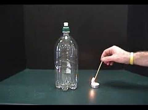 making clouds in a bottle