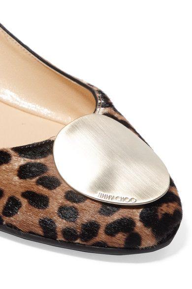 Jimmy Choo - Wray Leopard-print Calf Hair Ballet Flats - Leopard print - IT37.5