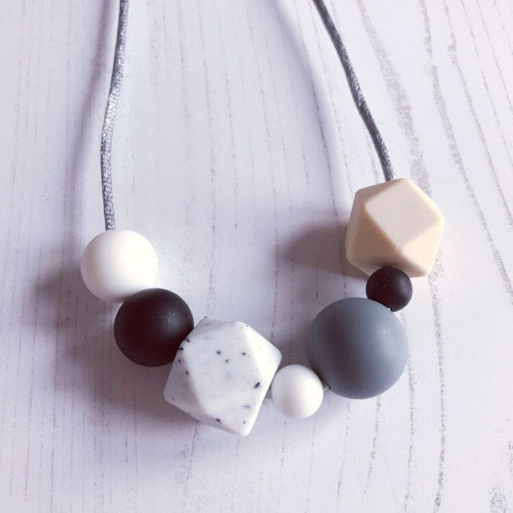 A personal favourite from my Etsy shop https://www.etsy.com/uk/listing/527965287/silicone-teething-necklace-rachel