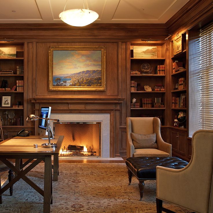 Den Library Office: 25+ Best Ideas About Traditional Home Offices On Pinterest