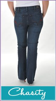 All American Clothing Co: Jean Fitting Guide including sizing chart.