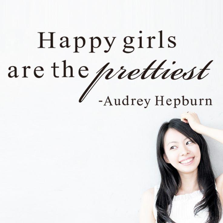 Теплый цитата Счастливые Девушки домашняя этикета стикера стены девушки спальня теплый цитата номер украшения искусства настенной росписи
