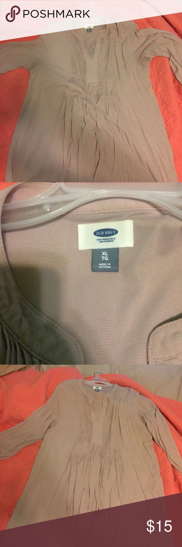 Old navy tunic/dress Nude tunic/dress. Looks super cute with leggings and boots. Old Navy Tops Tunics