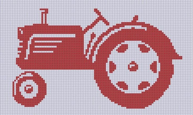 Looking for a embroidery pattern for your next project? Look no further than Tractor 5 Cross Stitch Pattern  from Motherbeedesigns! - via @Craftsy