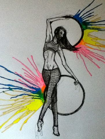 As a graphic designer by trade I am always stumbling across great hula hoop inspired art and would love to share some of my findings with my hoop family. Maybe