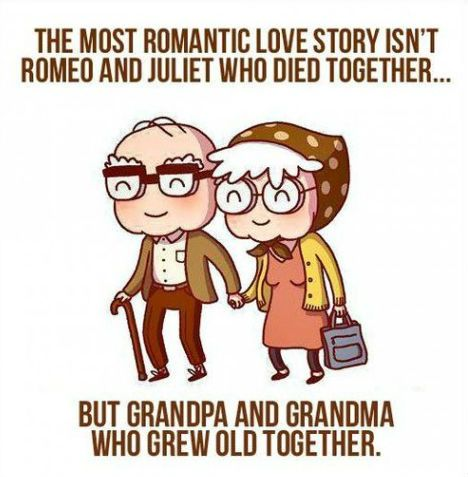 The most romantic story isnt who died together but who grew old together