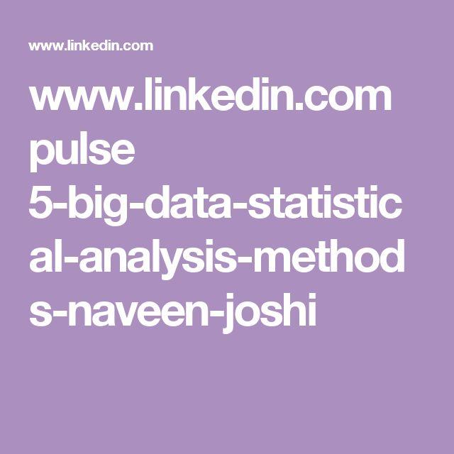 www.linkedin.com pulse 5-big-data-statistical-analysis-methods-naveen-joshi