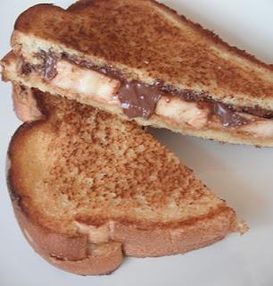 Nutella, peanut butter & banana panini. | Food | Pinterest