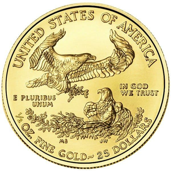 Buy 1 2 Oz Gold American Eagle Coins Low Premiums 1 2 Oz Gold Eagles Gold Eagle Coins Gold Bullion Coins American Eagle Gold Coin