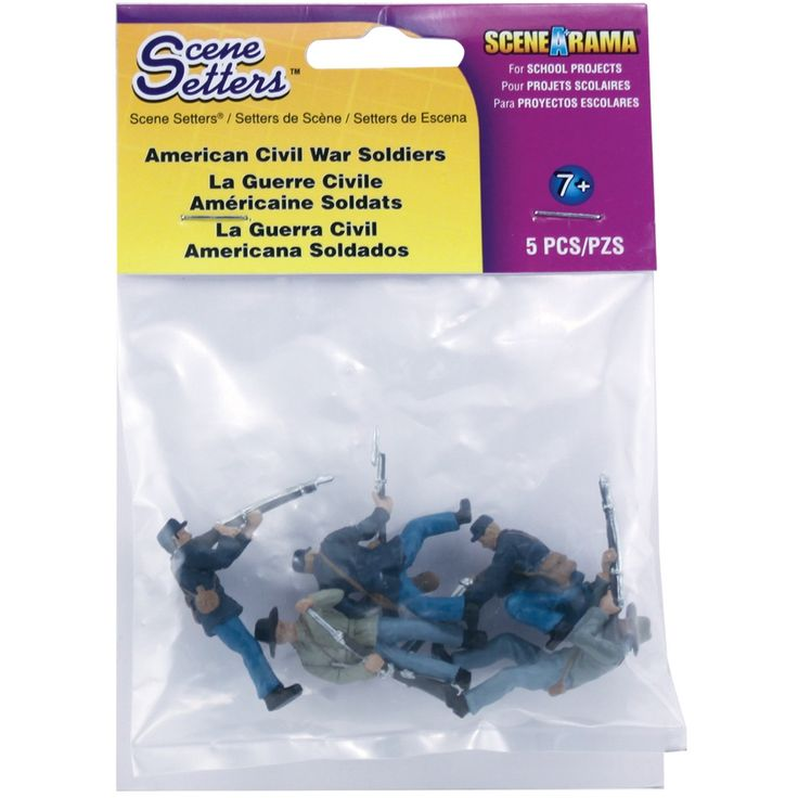 Woodland Scenics Scene Setters(R) Figurines-American Civil War Soldiers 5/Pkg - american civil war soldiers 5/pkg