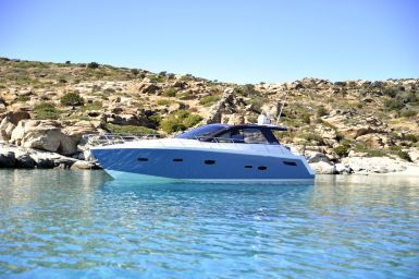 Blue Pearl is a great choice for your private cruise around Santorini's shores.