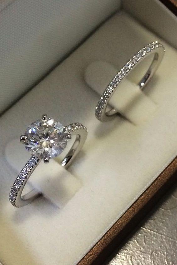 Details about 1.50 Ct Princess Cut D/VVS1 Diamond Bridal Set Engagement Ring 14K…