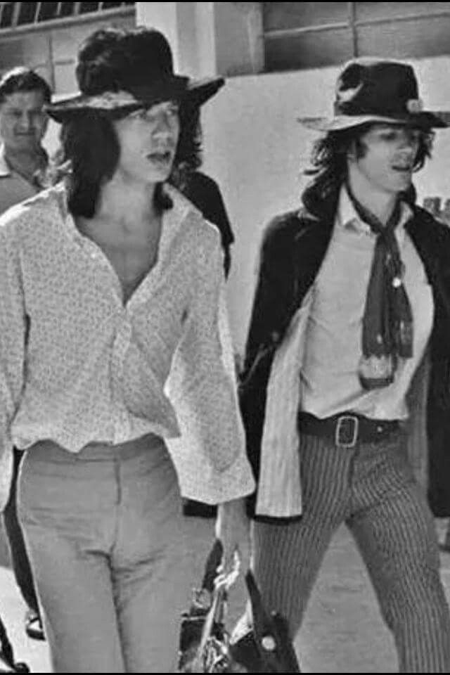 mick jagger & keith richards in brazil, 1968