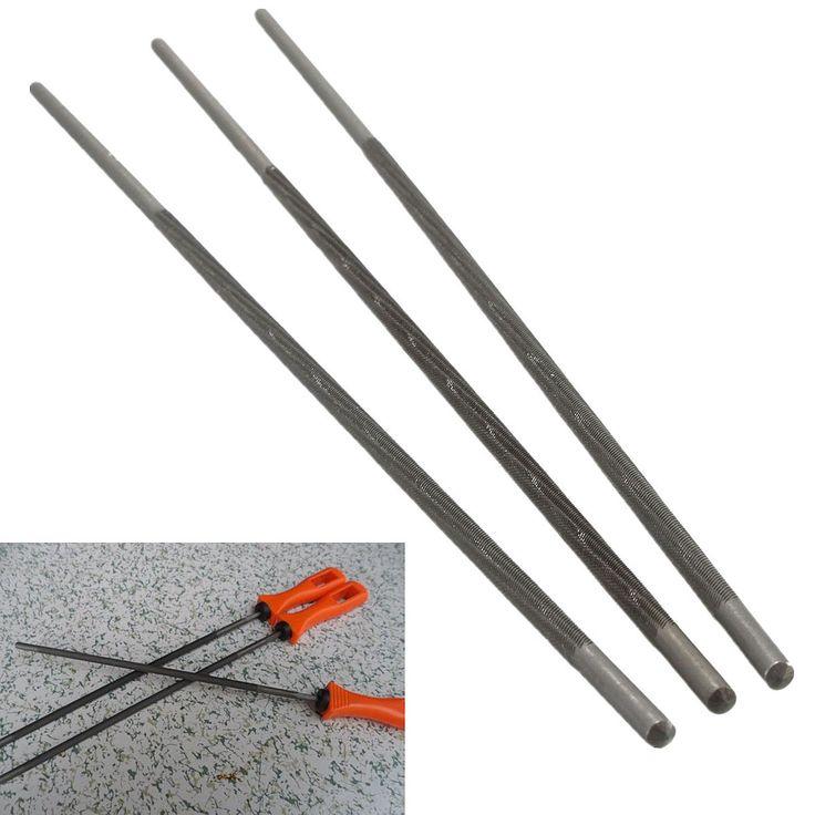 3 Unids/set 4mm 3/8 pulgadas Ronda de Acero de Alto Carbono Afilar Afilador Motosierra Cadena de Sierra de Archivos Para Trabajar la Madera