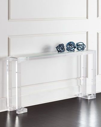 Naomi Acrylic Console Table by INTERLUDE at Horchow.
