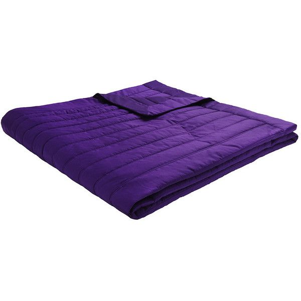 Descamps Sublime Quilted Bedspread - 240x260cm - Purple ($495) ❤ liked on Polyvore featuring home, bed & bath, bedding, bedspreads, purple, quilted bedding, quilted bedspreads, purple bedding and purple bedspread