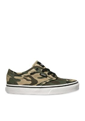 Vans Boys' Atwood Camo Sneaker - Boy Toddler/Youth Sizes - Camo - 13.5M Youth