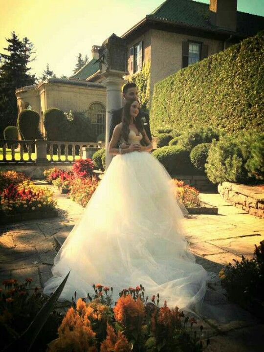 Stunning wedding, big ball gown wedding dress, massive puffy gown, midnight blue tuxedo, parkwood estate marriage,september 27th wedding 2014