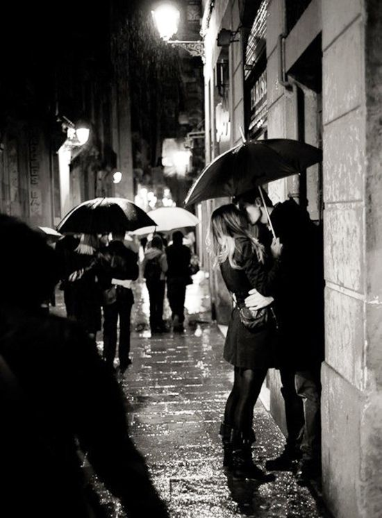 : Kiss Me, A Kiss, First Kiss, Engagement Photo, The Kiss, Late Night, Rainy Day, Black White, Engagement Pics
