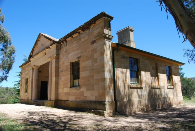 Hartley Courthouse NSW    Erected in 1837 at an initial cost of (£)1,476, the building served the then colony as a court house for half a century till 1887. It stands to-day as a monument to the courage and craftmanship of a past generation.