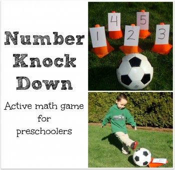 This activity will work on a preschoolers math skills. First you number