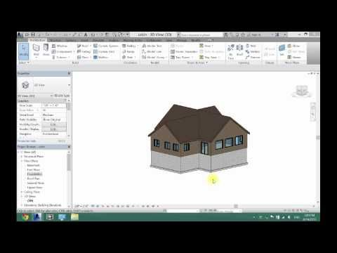 how to create a roof plan view in revit