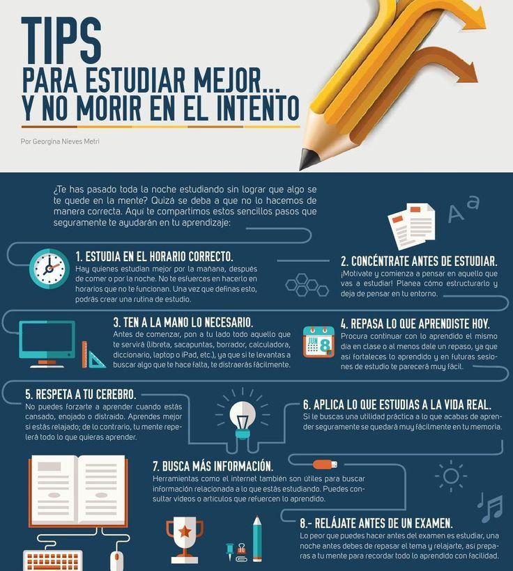 Consejos para estudiar mejor #infografia