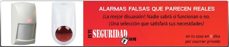Carcasas de alarmas, alarmas de mentira, alarmas falsas, cajas de sirena