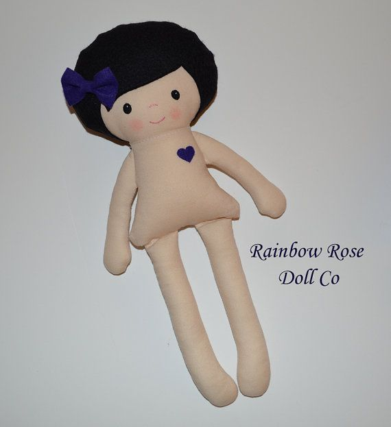 Cloth Doll Pattern PDF Rag Doll Sewing by rainbowrosedollco