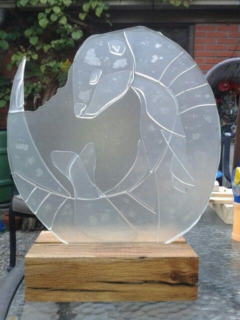 Otter glas fusing from Marsha Schellevis/ wizz-art.nl