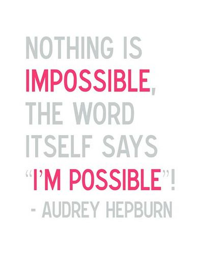 by Audrey Hepburn