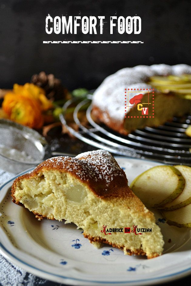 Recette du moelleux aux pommes, poires, amandes en poudre et effilées - recette comfort food
