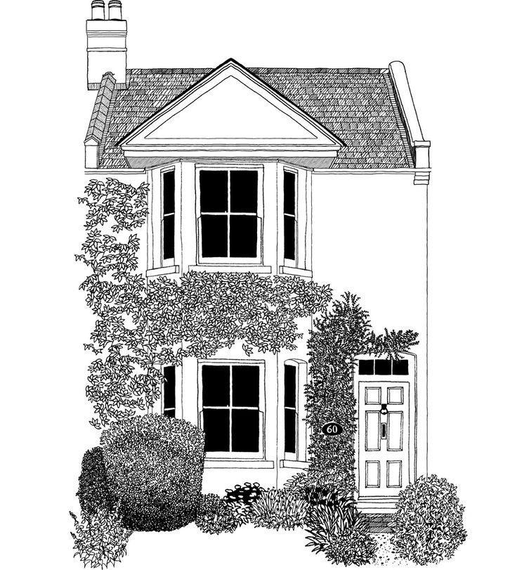 нарисовать двухэтажный дом картинки фарфоровая статуэтка может