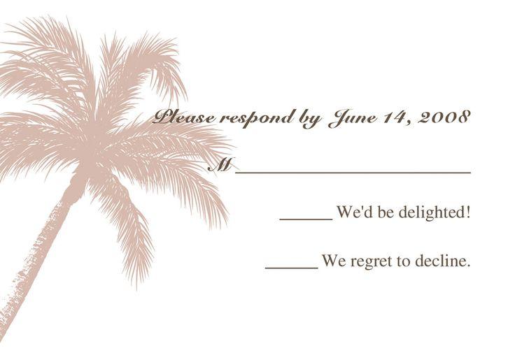 beach theme coconut tree destination wedding invitation cards online EWI056