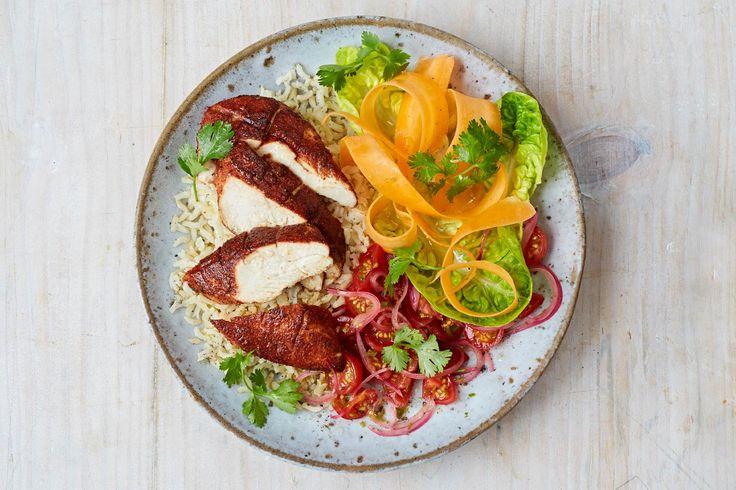 Jamies Tandoori-Hähnchen mit pikantem Reissalat