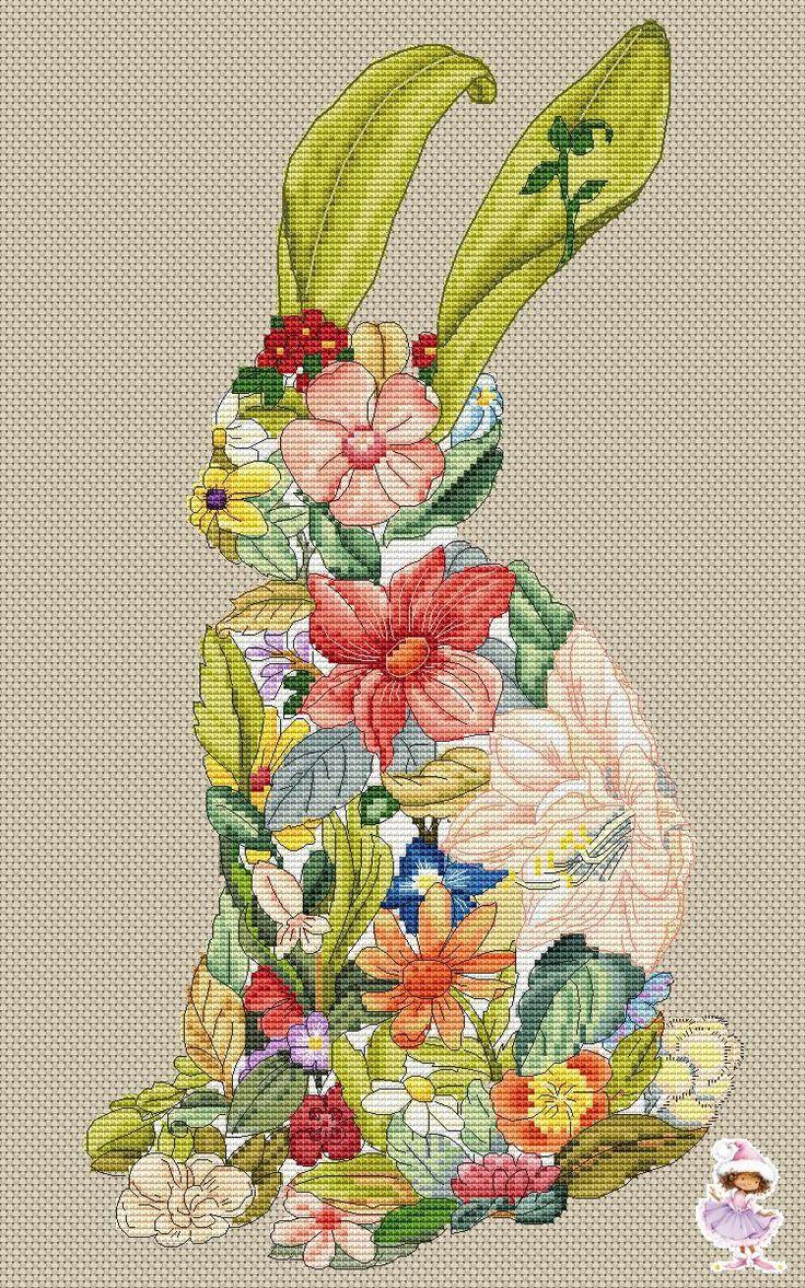 "Цветочный заяц, серия ""Цветочная поляна"""