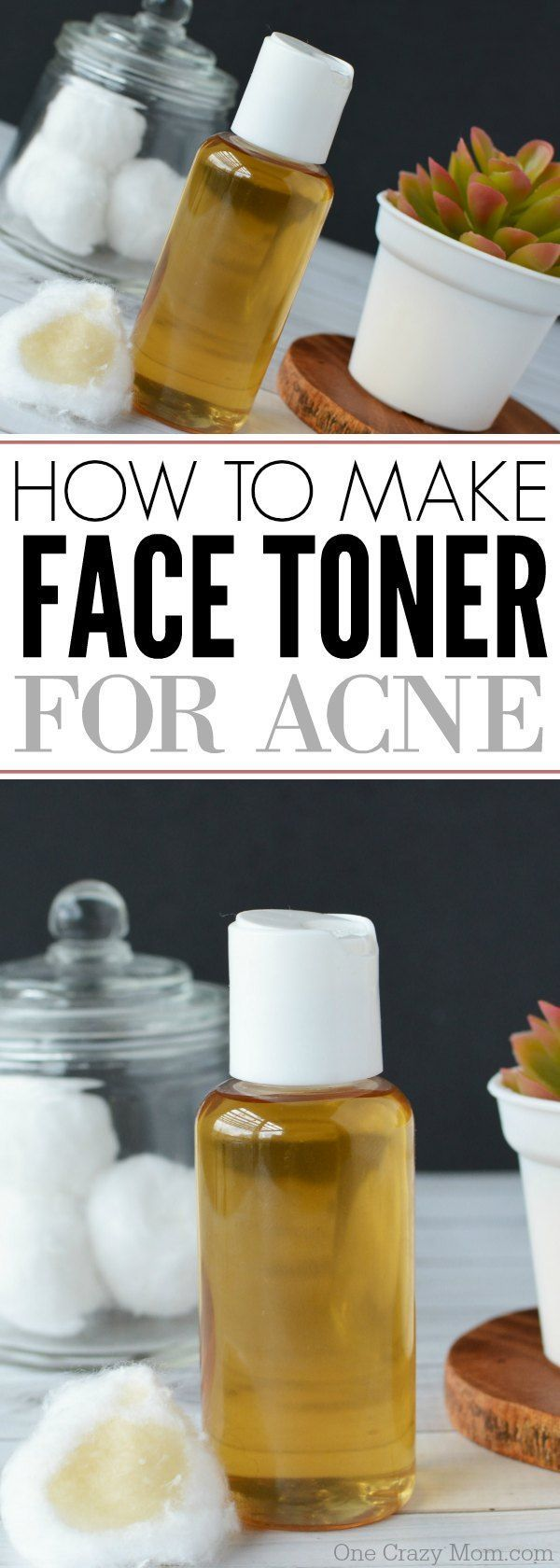 How to make Tea Tree Oil Face Toner for Acne Prone Skin. This Homemade Facial Toner is easy to make and is a great DIY Face toner for all ages.