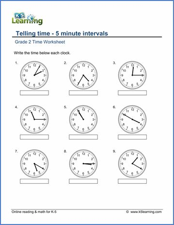 grade 2 telling time worksheet on telling time 5 minute intervals time 2nd grade. Black Bedroom Furniture Sets. Home Design Ideas