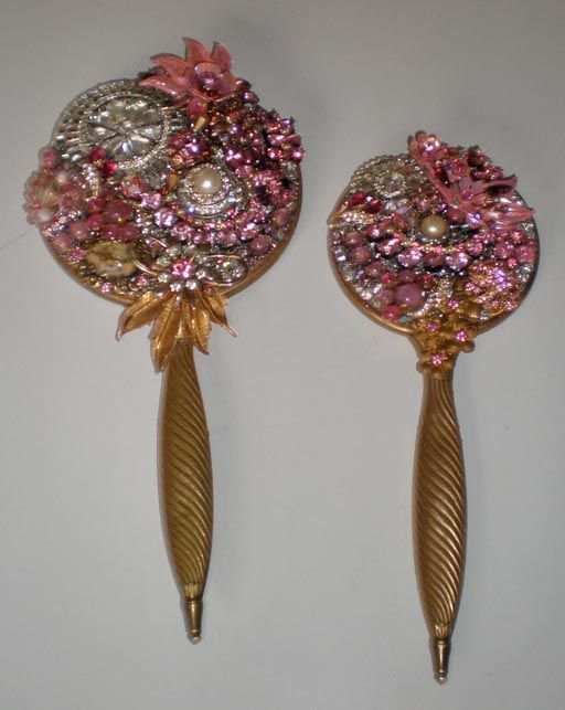 78 Images About Vintage Hand Mirrors On Pinterest