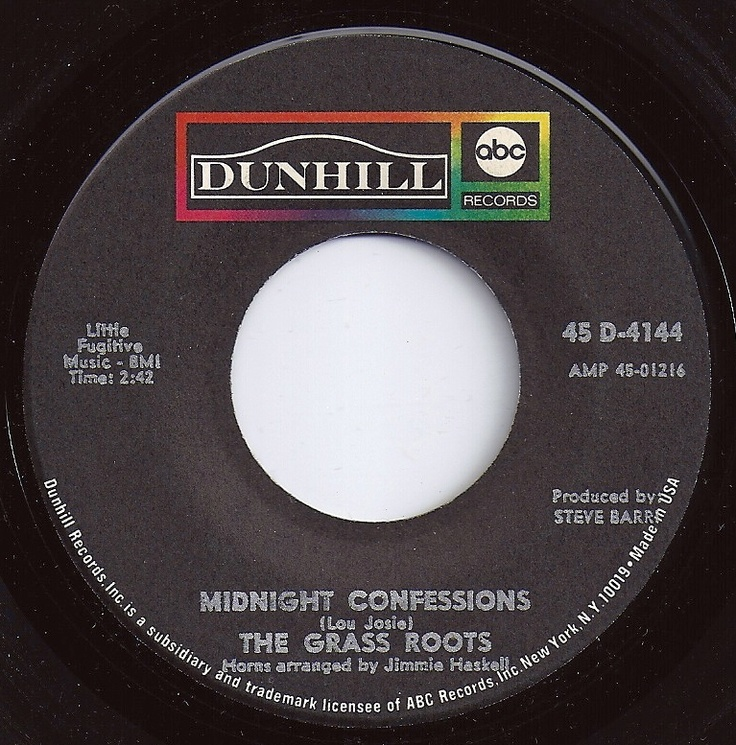 # 5 on Billboard / Midnight Confessions / Grass Roots
