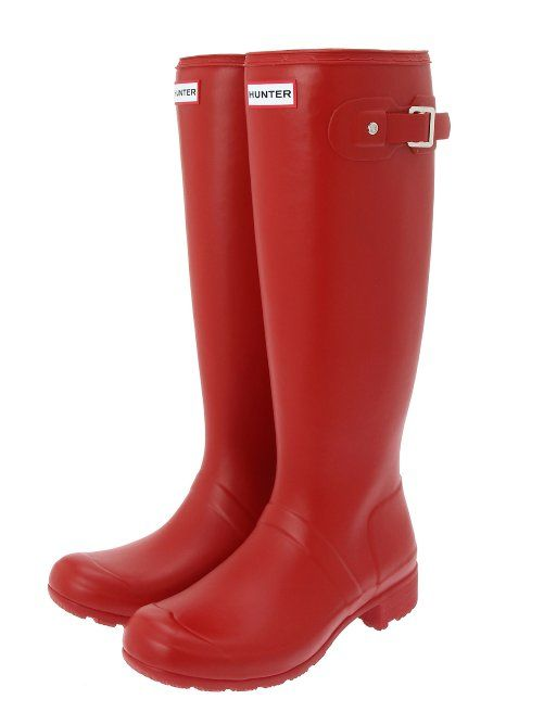 HUNTER boots #hunter #boots #red #wellington
