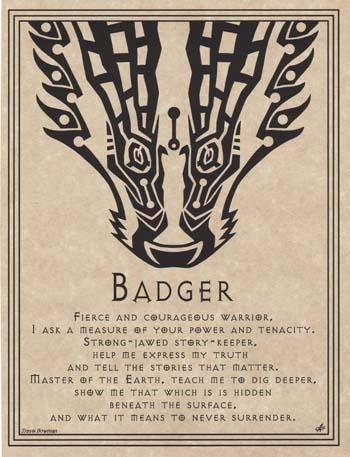 """Badger Prayer poster 8 12"""" x 11"""""""