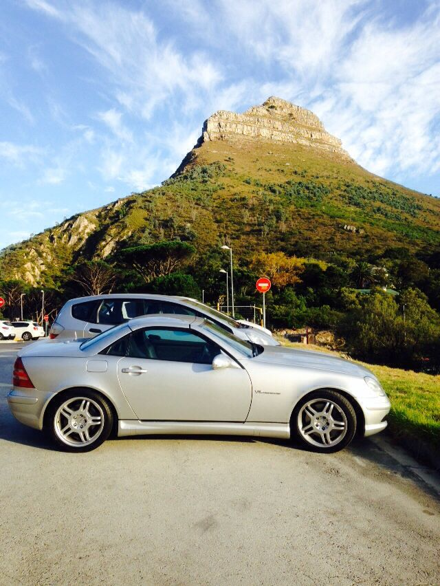 Beneath Lion's Head, Cape Town.... My SLK32 AMG