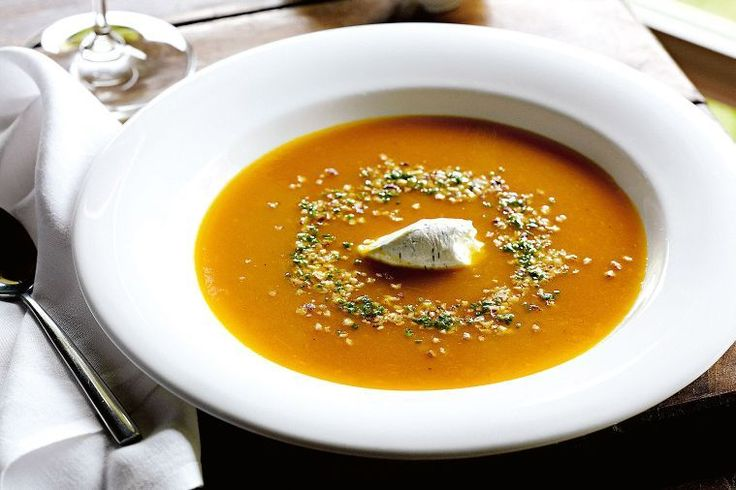Roasted pumpkin and ginger soup