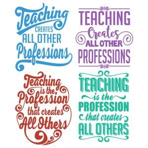 (FREE Daily Cut File) Teaching Profession - Available for FREE today only, Aug 19