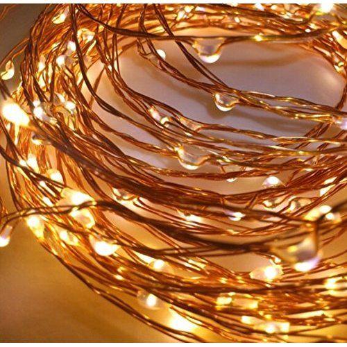 Velishy-) 5m 50LED alambre de cobre cadena decoración de Navidad guirnalda de luces