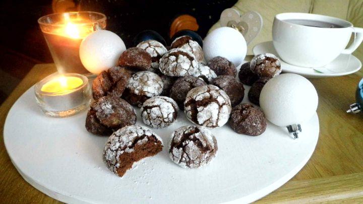 Škoricovo-čokoládové crinkles